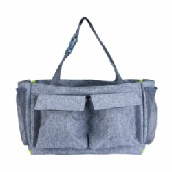 Fashion Multi-function Shoulder daddy mummy Diaper Bag nappy changing pad insulated tote diaper bag