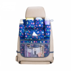 2019 Deluxe Baby Car Back Seat Organizer Kick Mat With Tissue Box Back Seat Car Organizer