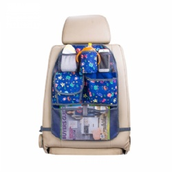 2019Car Storage Multi-Pocket Kick Mat kids Protector Car Back Seat Organizer