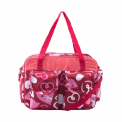 Best seller wholesale love-hearts functional mummy diaper bag with stroller hook strap,shoulder bag ,tote mummy diaper bag