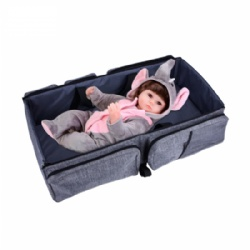 Multi-functional 3 in 1 Baby Changing Bags Travel Bassinet Diaper Bed Portable Foldable Tote Bag Nappy Changing Bag Baby Crib Carrycot for 0-12 Months